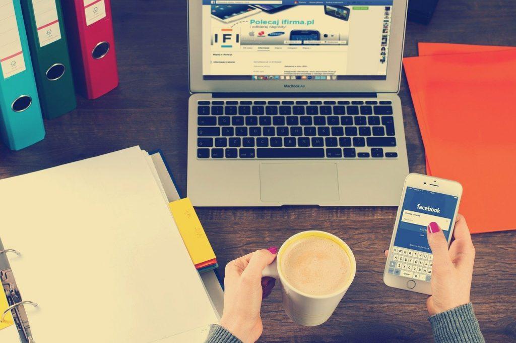 notebook, desk, work